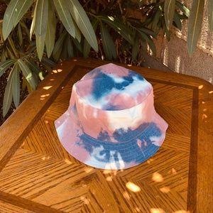 Accessories - Sunset Blvd Pink Tie Dye Reversible Bucket Hat